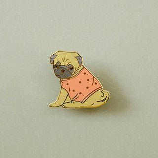 Pug Enamel Pin, Badge, Brooch, Pin, Accessories