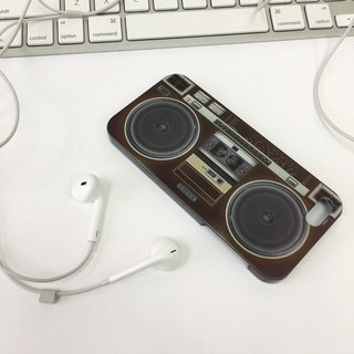香港原创设计 深啡色音乐扬声器图案 iPhone X,  iPhone 8,  iPhone 8 Plus, iPhone 7, iPhone 7 Plus, iphone 6/6S , iphone 6/6S PLUS, Samsung Galaxy Note 7 透明手机壳