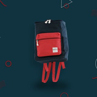 BUCKET BEAM BAG : NAVY x RED COLOR
