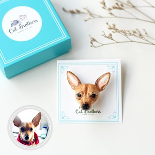 Custom dog portraits brooch, Custom dog brooch, personalized dog