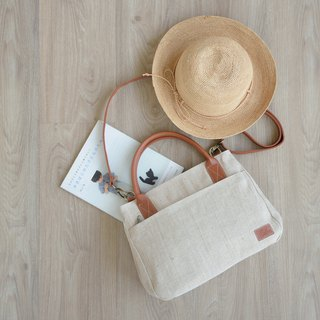mono tote&shoulder bag - Natural