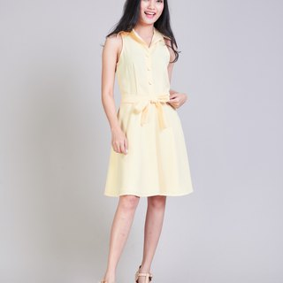 Work Dress Yellow Dress Shirt Dress Party Dress Sundress Bridesmaid Dress