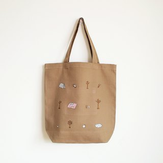 forest camp tote bag : khaki
