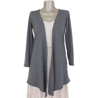 Long topper cardigan <gray>