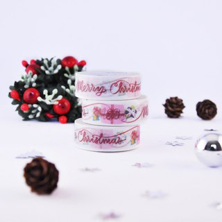 Merry Christmas washi tape - Gifts with red ribbon holiday greetings