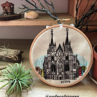 Cologne Cathedral Embroidered 科隆大教堂手工刺绣挂画