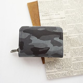 Compact wallet gray color military wallet