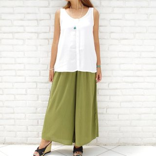 [New color! ] Adult cute wide flare Long pants <Khaki>