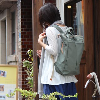 hike: Wasabi Kurashiki canvas backpack