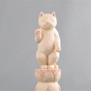 Wood carving cat1808