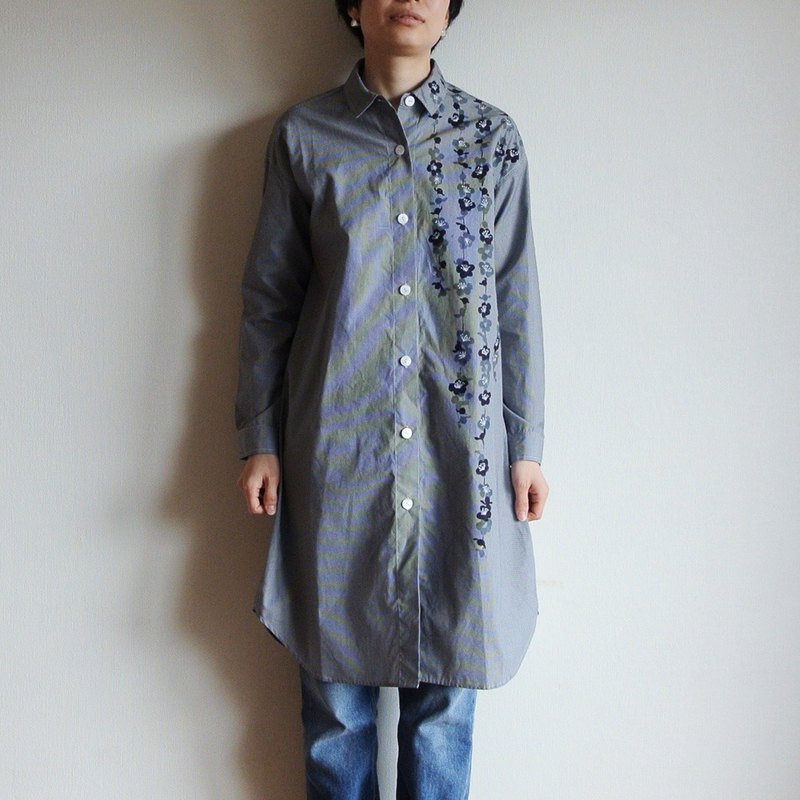 Shirt One Piece Gingham Check Black Umbrella Plum