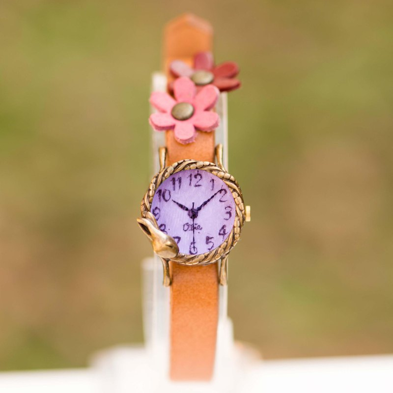 Dreaming rabbit watch S lavender