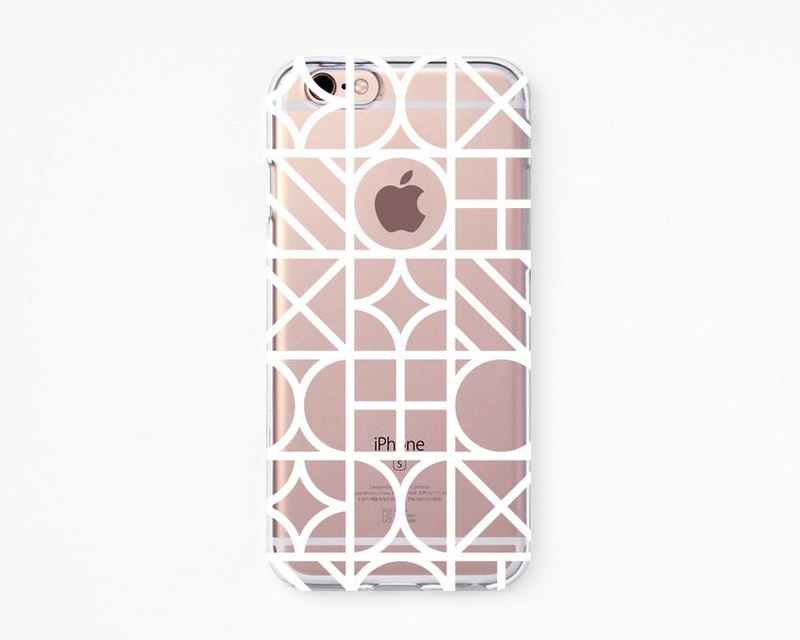iPhone Rubber Case - Geometry Blocks for iPhones - Clear Flexible Rubber case