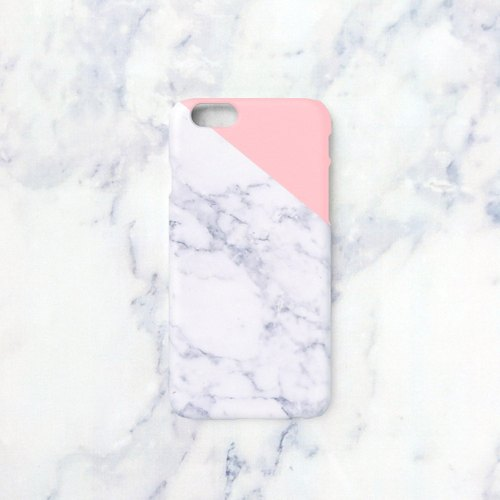 iPhone X case - Indian pink edge of a marble for iPhones