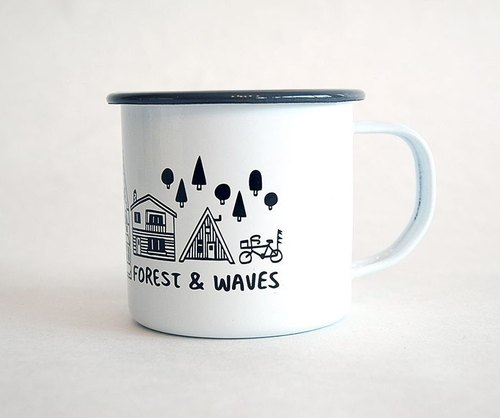 Forest & Waves珐琅杯/灰色