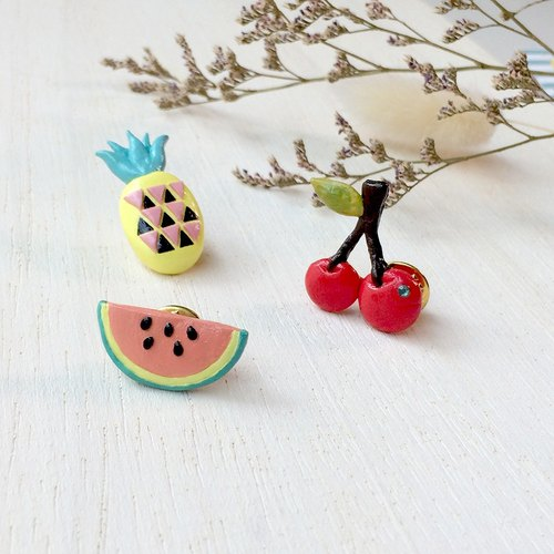 Mixed Fruit collection! Pineapple pin, Cherry pin, Melon pin, Fruit pin