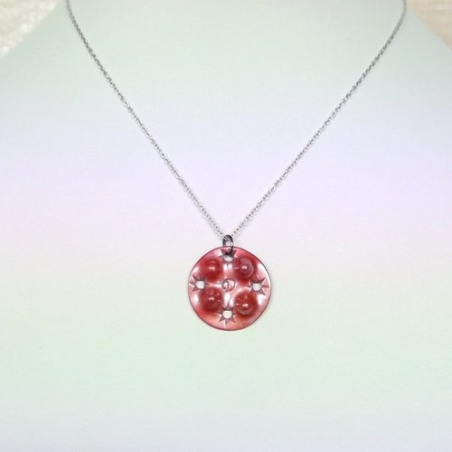 Japanese traditional technique scarlet copper lighthouse initials D pendant necklace lamp AKARI