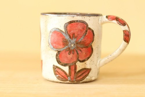 * Order production Powder drawing Cup of red flowers.
