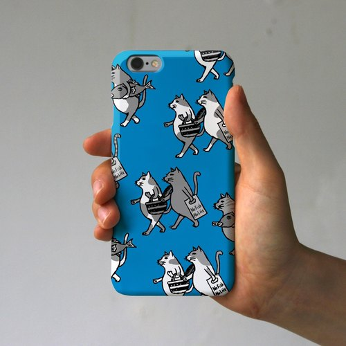 IPhone case cats (blue)