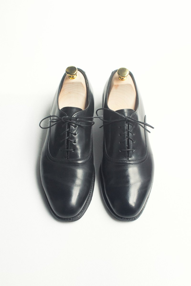 70s 美制黑色素面牛津皮鞋|Bostonian Round Toe Oxford US 9D EUR 4142