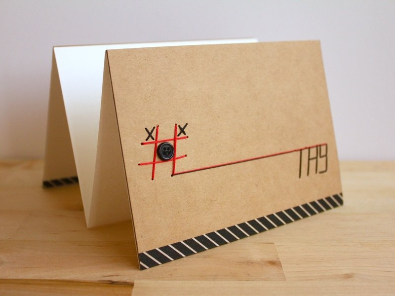 Handmade A6 Accordion Card - #TIC-TAC-TOE (手工作六面卡片)