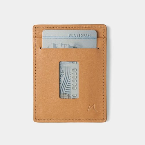 Slim Card Holder Minimalist Wallet - Haru Wallet (Tanned)