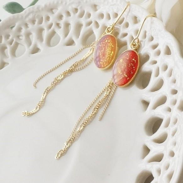 Autumn leaves color ☆ * :. earrings / earrings