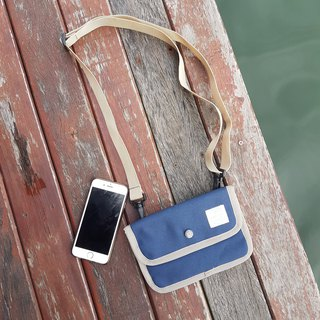 Navy Canvas Passport Bag / clutch / small wallet