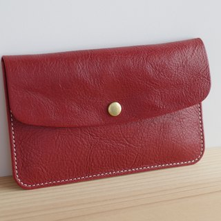 Leather passbook (present) case Russet