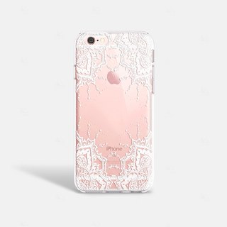 White Lace iPhone 7 Case Clear iPhone 8 Case Clear iPhone 7 Plus Case iPhone 6S