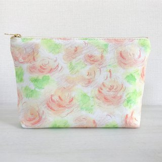 Joy Flower gusseted pouch Orange × green