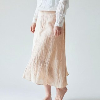 【In Stock 1 point SALE】 enrica skirt pinkbeige / botanical dye