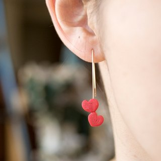 14KGF / Small Heart Earrings