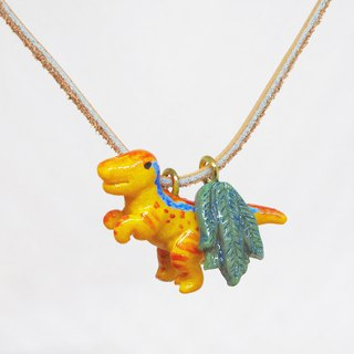 速龙手工手绘颈链 Velociraptor handmade necklace