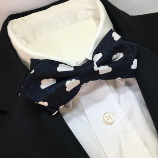 Cloud with ... bowtie navy cloud pattern cloudy sometimes small pattern / butterfly tie / bow tie
