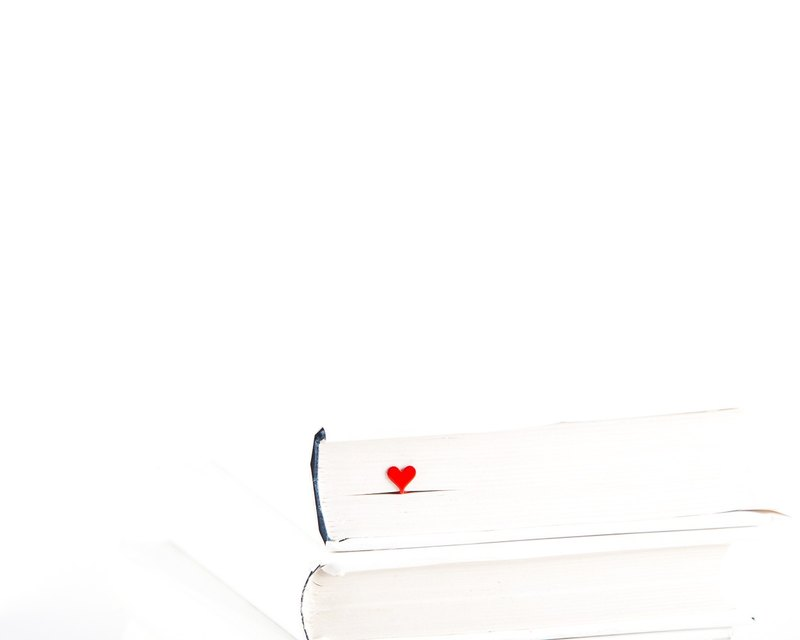 Book Bookmark HEART made out of metal // Present for book lover