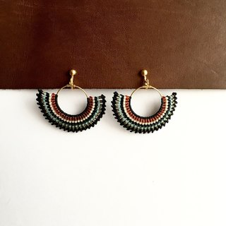 wax cord and beads earring