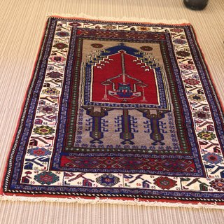 Hand-woven Turkish carpets Setchade pattern wool plant dyeing handmade rug 165 × 110cm