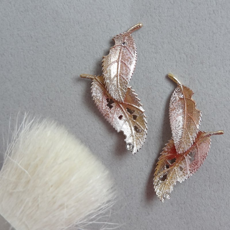 秋叶耳环 Autumn leaves earrings 预购