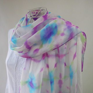 Tie-dyed · silk chiffon · festival musicians _ 3 · stole