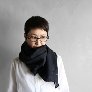 Washable wool stole · black
