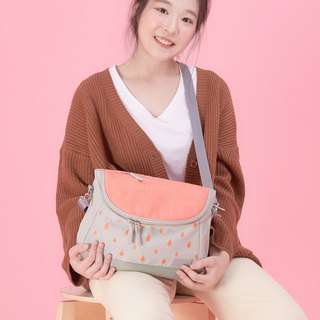 peach small cross body bag