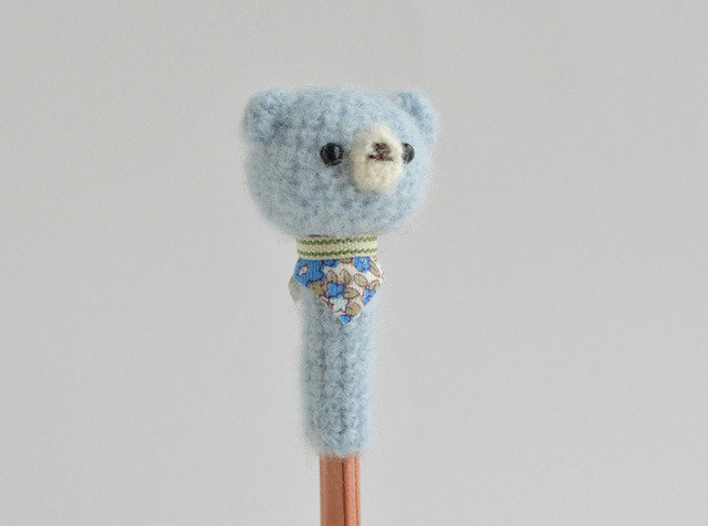 [Order production] pencil hat light blue bear