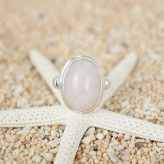 Pale pink is cute! Rose Quartz Silver Ring