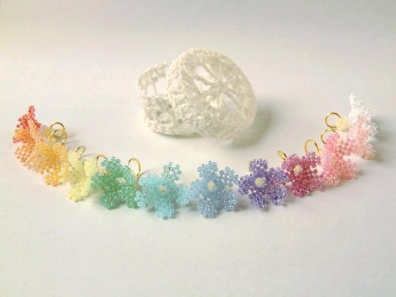 Fairy hat 12 color set delicate lace ornate neat elegant classy pretty lovely flower flower primrose spring rainbow colorful dreamy cute necklace pastel color light color