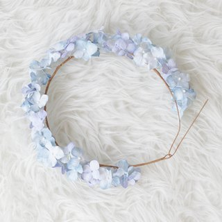 Purple Sky Hydrangea Floral Crown