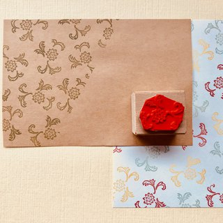 Japanese Pattern Stamp [Chrysanthemum and Leaf]