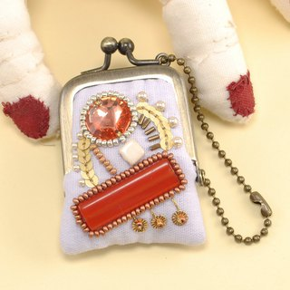 tiny purse for rings and pill,coins,accessories, purple × red purse 43