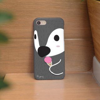 iphone case dark gray cute penguin iphone 6 plus, 7, 8, iphone xs ,xs max