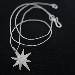 Handmade Christmas Star Thai Silver Necklace (N0016)
